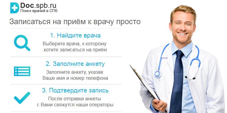 Запись на приём к врачу в СПб